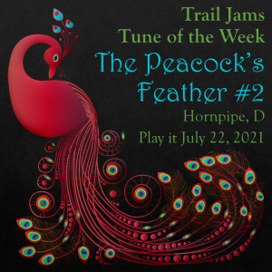 TrailJams Tune of the Week: The Peacock's Feather #2. Hornpipe, D. Play it together July 22, 2021.